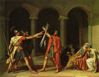 Jacques-Louis David - The Oath of the Horotii