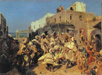 Alfred Dehodencq Blacks Dancing in Tangiers