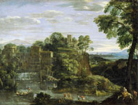 Domenichino Landscape with the Flight to Egypt