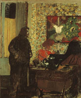 Edouard Vuillard Cipa Listening to Misia Playing the Piano