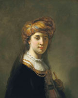Govert Flinck - Portrait of a lady in a turban