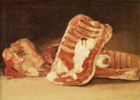 Francisco Goya Still-Life with a Sheep's Head