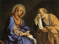 Guercino - St. Peter Weeping Before the Virgin