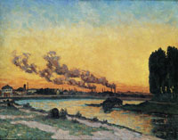 Jean-Baptiste Armand Guillaumin Sunset at Ivry