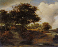 Meindert Hobbema Wooded Landscape