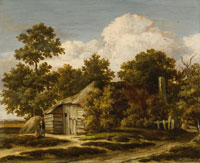 Meindert Hobbema Cottage at the Edge of a Wood