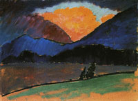 Alexej von Jawlensky Summer evening in Murnau