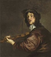 Pieter Lely - A man playing a violin
