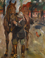 Lovis Corinth Setting out for a ride
