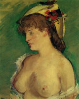 Edouard Manet Blonde Woman with Naked Breasts