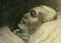 Franz Marc The Artist's Father on His Sick Bed II
