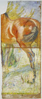 Franz Marc Fragment with Study of the Body of a Horse