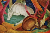 Franz Marc Stags on the Woods