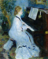 Pierre-Auguste Renoir Woman at the Piano