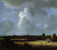 Jacob van Ruisdael View of Haarlem with a Country House and Grainfield