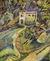 Chaim Soutine House in the Woods