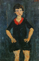 Chaim Soutine Portrait of a Child in Blue