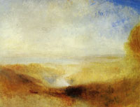 J.M.W. Turner Landscape with River and a Bay in the Distance