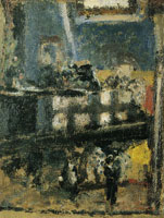 Edouard Vuillard Misia at the Piano in the Attic at Valvins