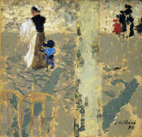 Edouard Vuillard Nursemaid with a Child in a Sailor-Suit