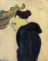 Edouard Vuillard Woman in Profile Wearing a Green Hat