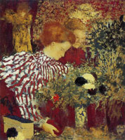 Edouard Vuillard Woman in a Striped Blouse