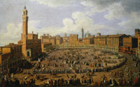 Giuseppe Zocchi The Palio Race in the Campo in Honor of Grand Duke Francis of Tuscany and Archduchess Maria Theresa of Austria