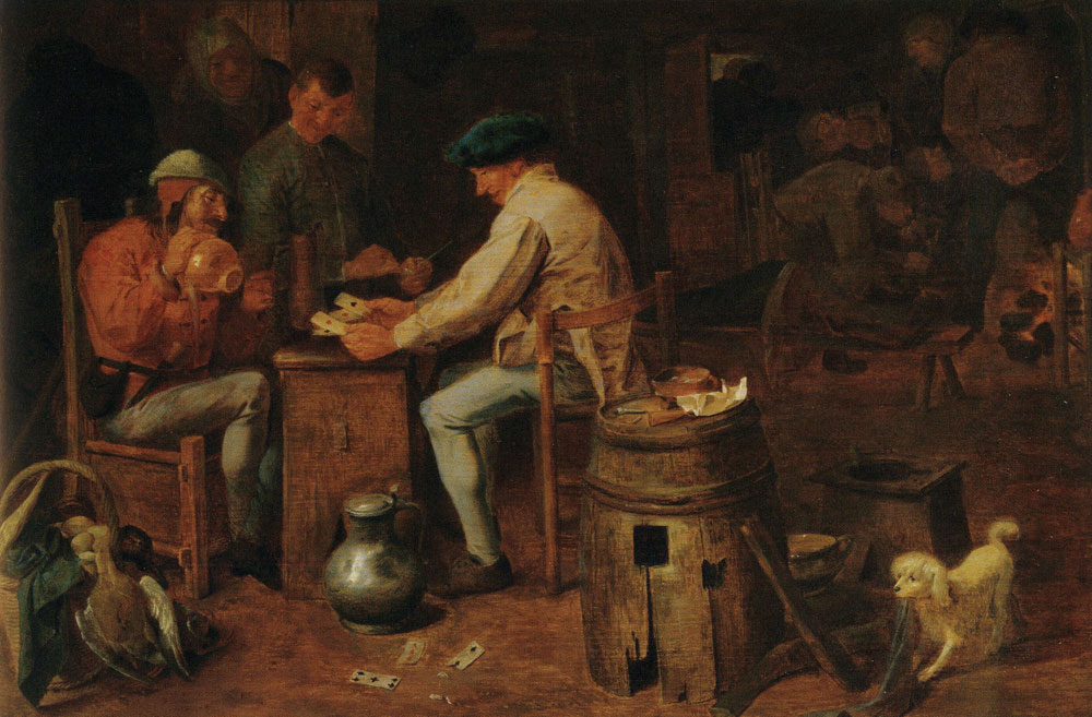 Adriaen Brouwer - Peasants Playing Cards