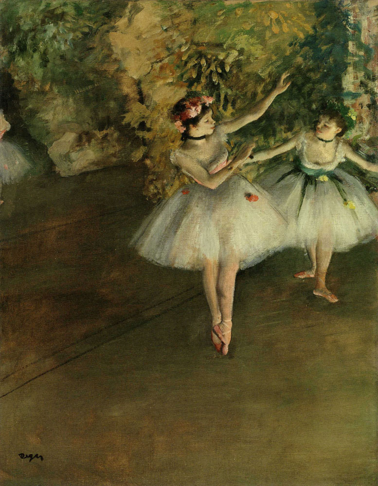 Edgar Degas - Two Dancers on a Stage