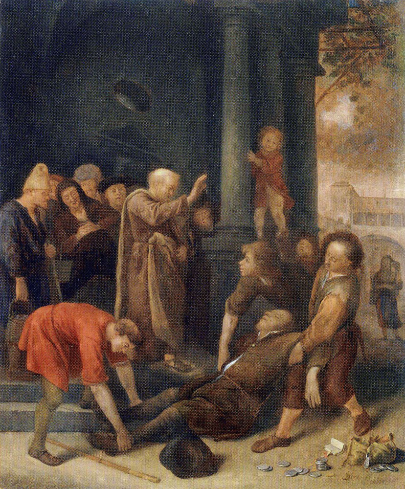 Jan Steen - The Death of Ananias
