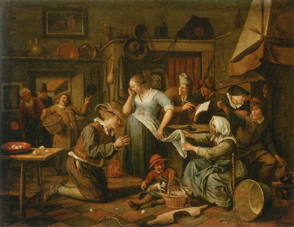 Jan Steen - The Marriage Contract