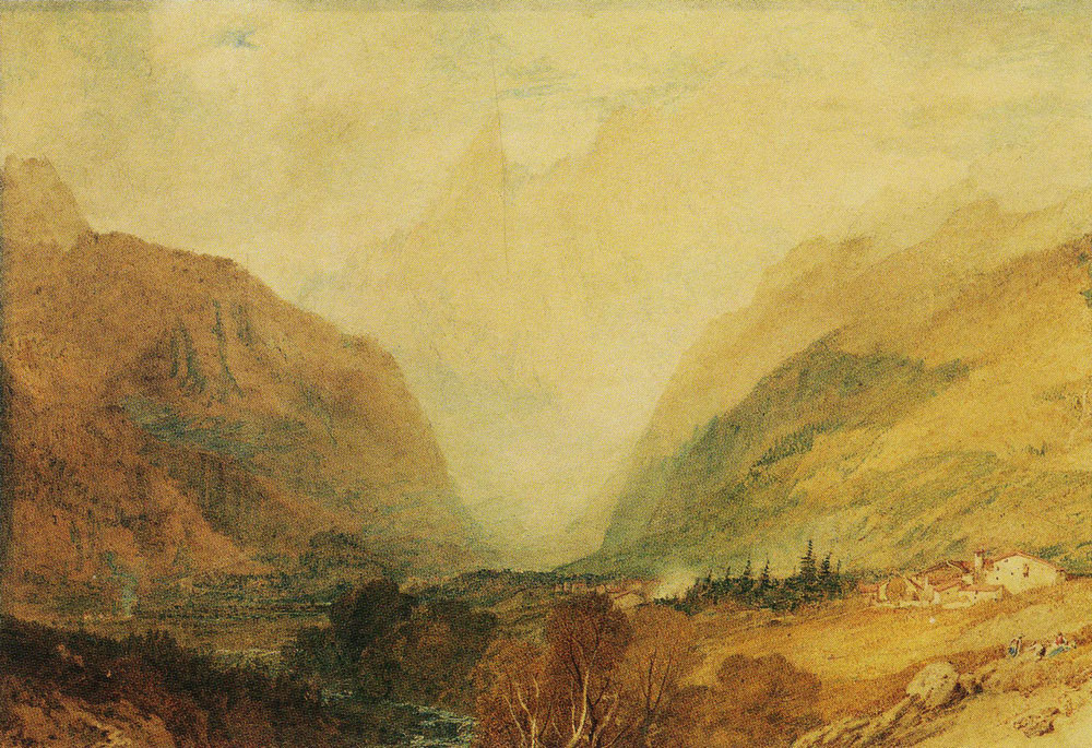 J.M.W. Turner - Mont Blanc, from above Courmayeur