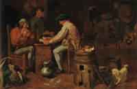 Adriaen Brouwer Peasants Playing Cards