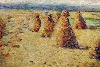 Charles Angrand Hay Ricks in Normandy