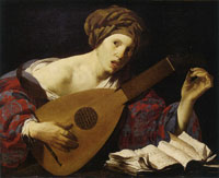 Hendrick ter Brugghen Young Woman Tuning a Lute