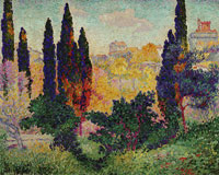 Henri-Edmond Cross Cypress Trees at Cagnes