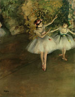 Edgar Degas Two Dancers on a Stage