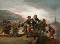 Francisco de Goya Boys Playing at Soldiers