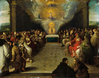 Frans Francken the Younger The Disputation of the Holy Sacrament