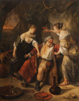 Jan Steen Lot and His Daughters
