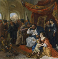 Jan Steen Moses trampling on Pharaoh's crown