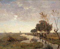 Paul Joseph Constantin Gabriël - A Watercourse near Abcoude
