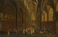 Peeter Neefs the Elder The Interior of the Dominican Church (the Sint-Pauluskerk), Antwerp