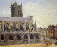 Camille Pissarro The Church of St. Jacques at Dieppe