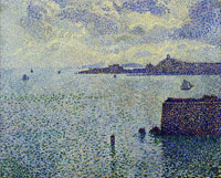 Theo van Rysselberghe Sailboats and Estuary