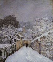 Alfred Sisley Snow at Louveciennes