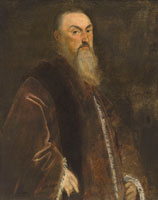 Tintoretto Portrait of a senator, half-length, in red robes