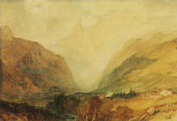 J.M.W. Turner Mont Blanc, from above Courmayeur