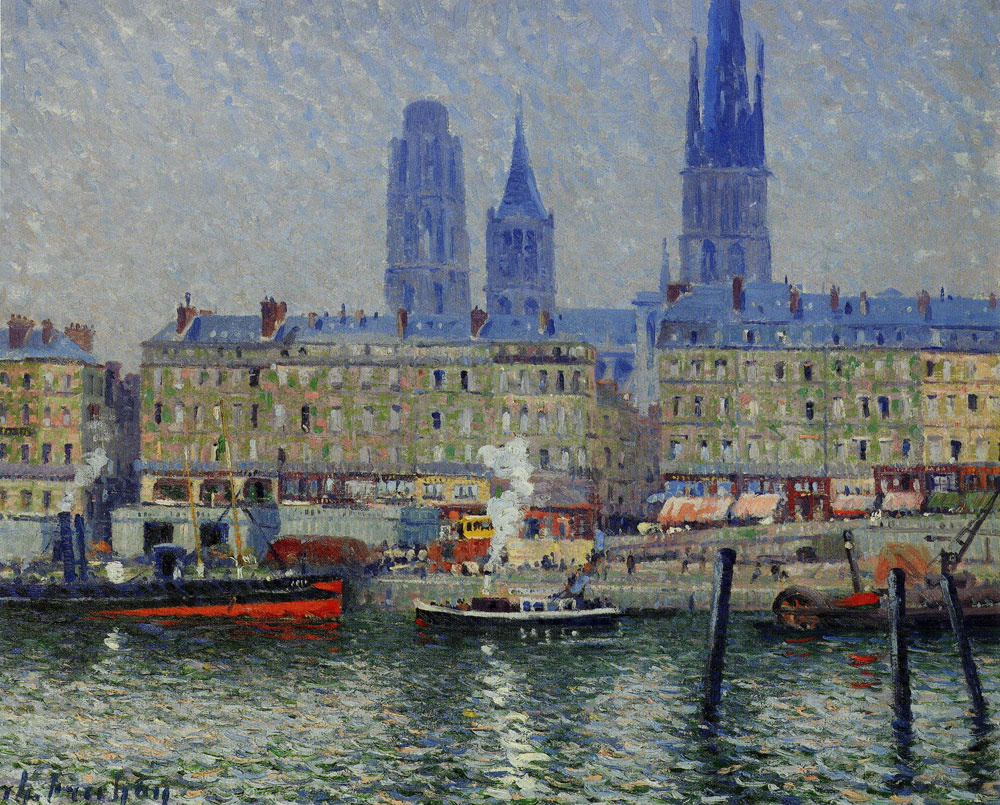 Charles Frechon - Rouen Seen from the Left Bank