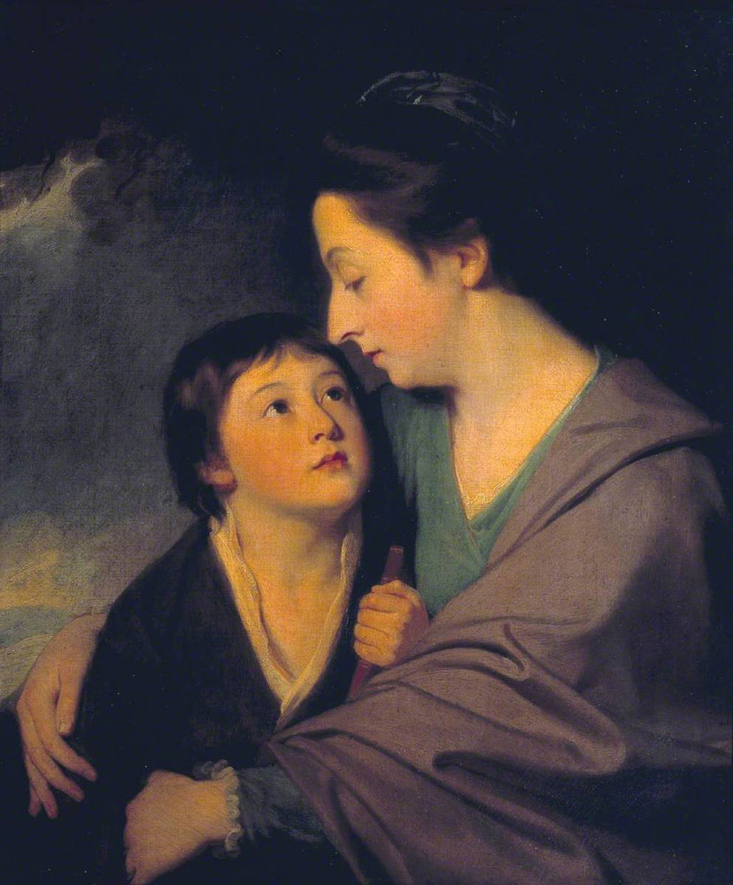 George Romney - Mrs Richard Cumberland and her Son Charles